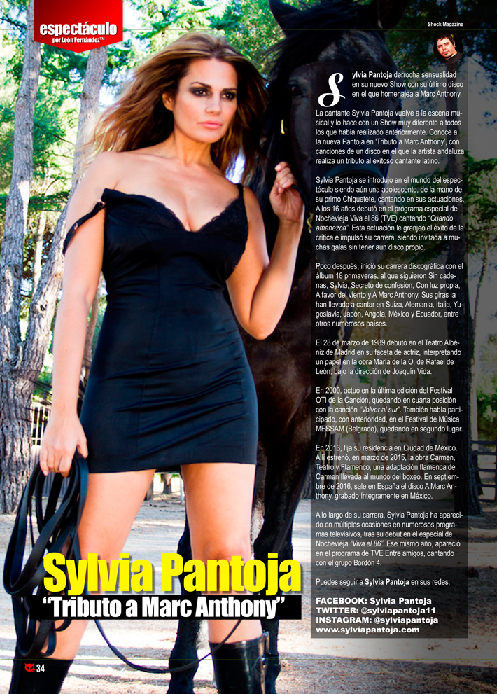 Sylvia Pantoja Tributo A Marc Anthony En Shock Magazine